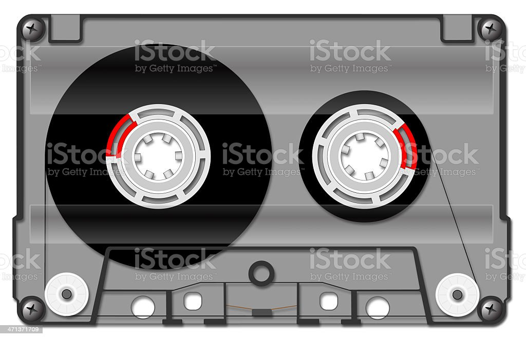 Audio cassette royalty-free stock vector art