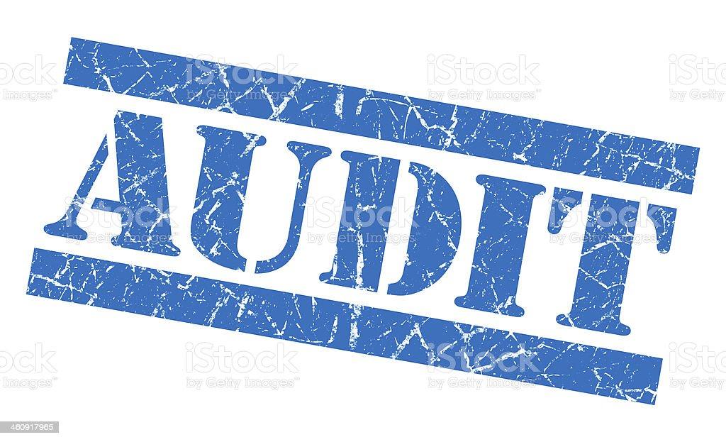 Audit grunge blue stamp vector art illustration