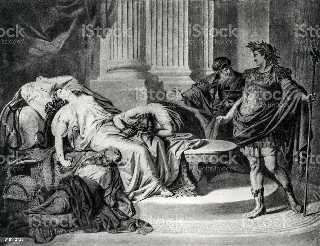 Augustus Caesar And Cleopatra vector art illustration