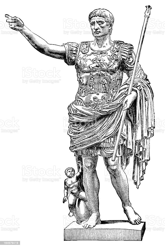 Augustus Caesar royalty-free stock vector art