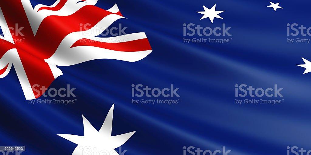 Australia flag. royalty-free stock vector art