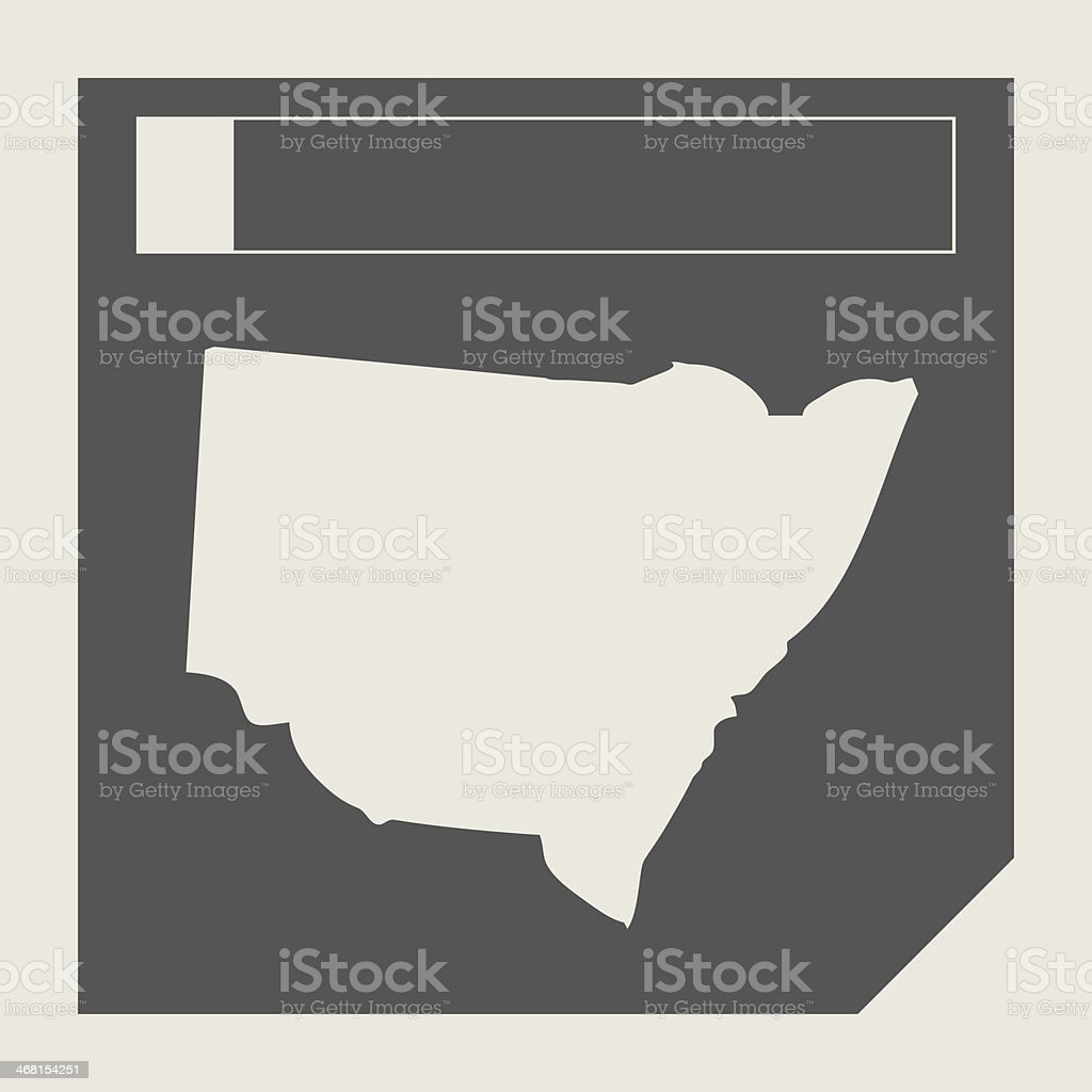 Australia New South Wales map button vector art illustration
