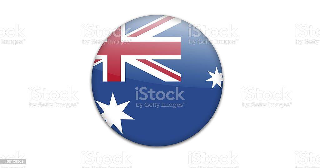 Australian flag badge. vector art illustration