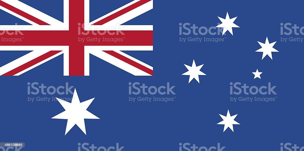 Australian flag. vector art illustration