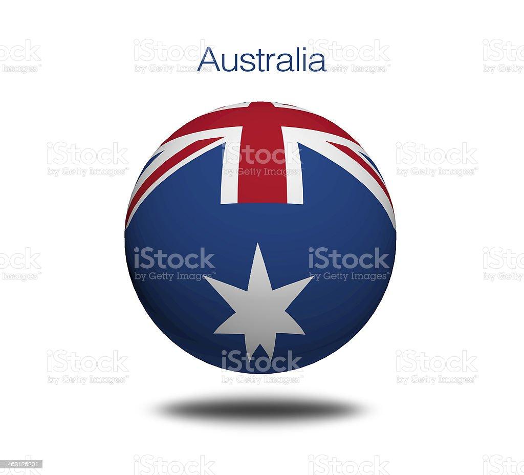 Australian flag sphere. vector art illustration