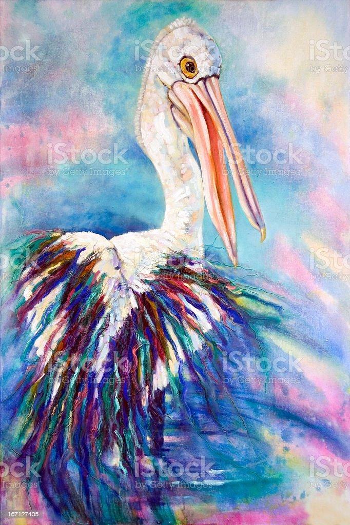 Australian Pelican Painting royalty-free stock vector art
