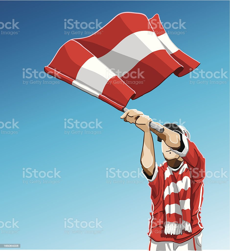 Austria Waving Flag Soccer Fan royalty-free stock vector art