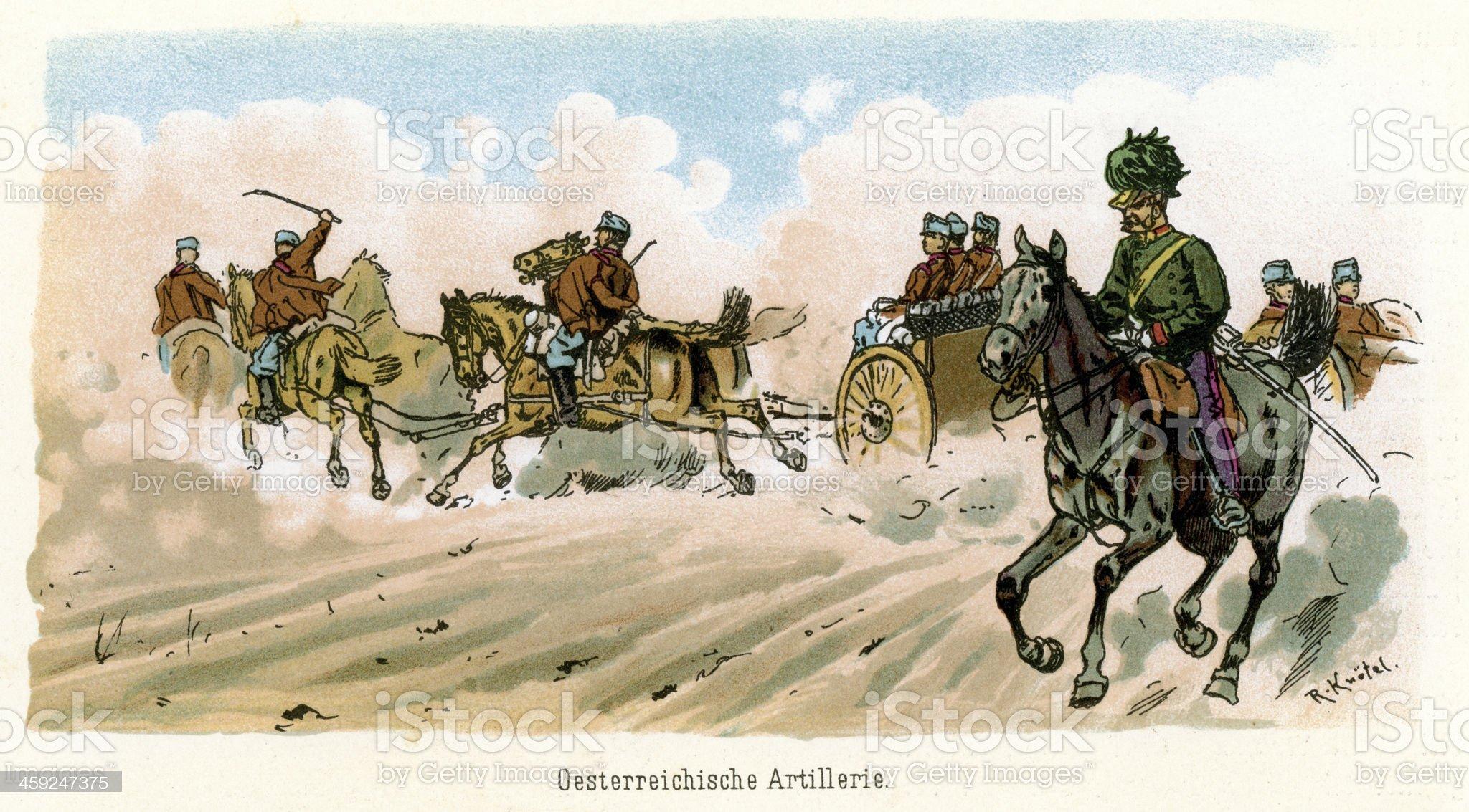 Austro Hungarian Empire Military royalty-free stock vector art