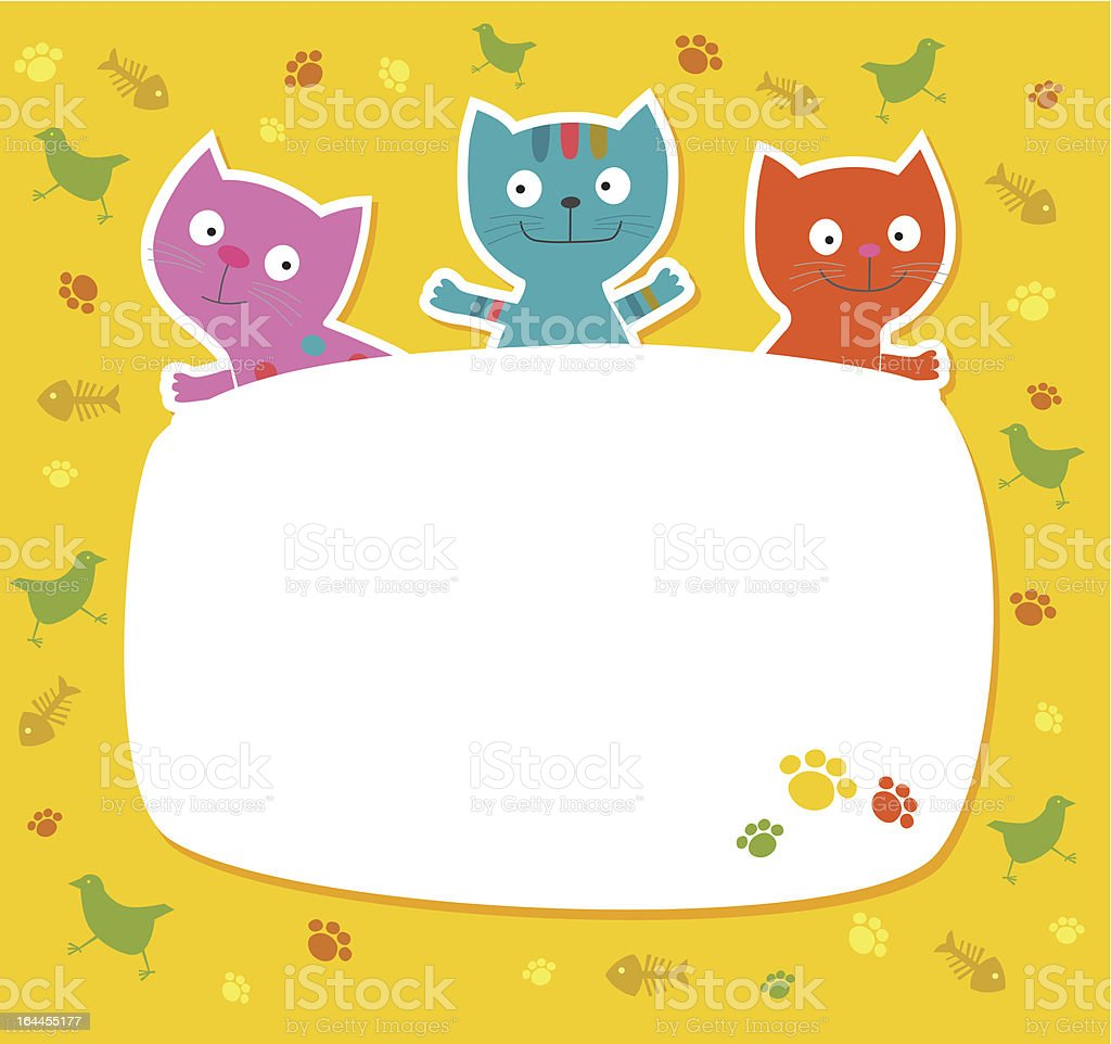 A!ute colored cats. Vector illusration royalty-free stock vector art