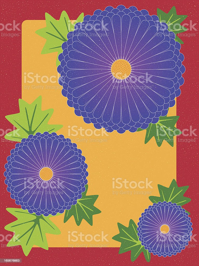 autumn asters royalty-free stock vector art