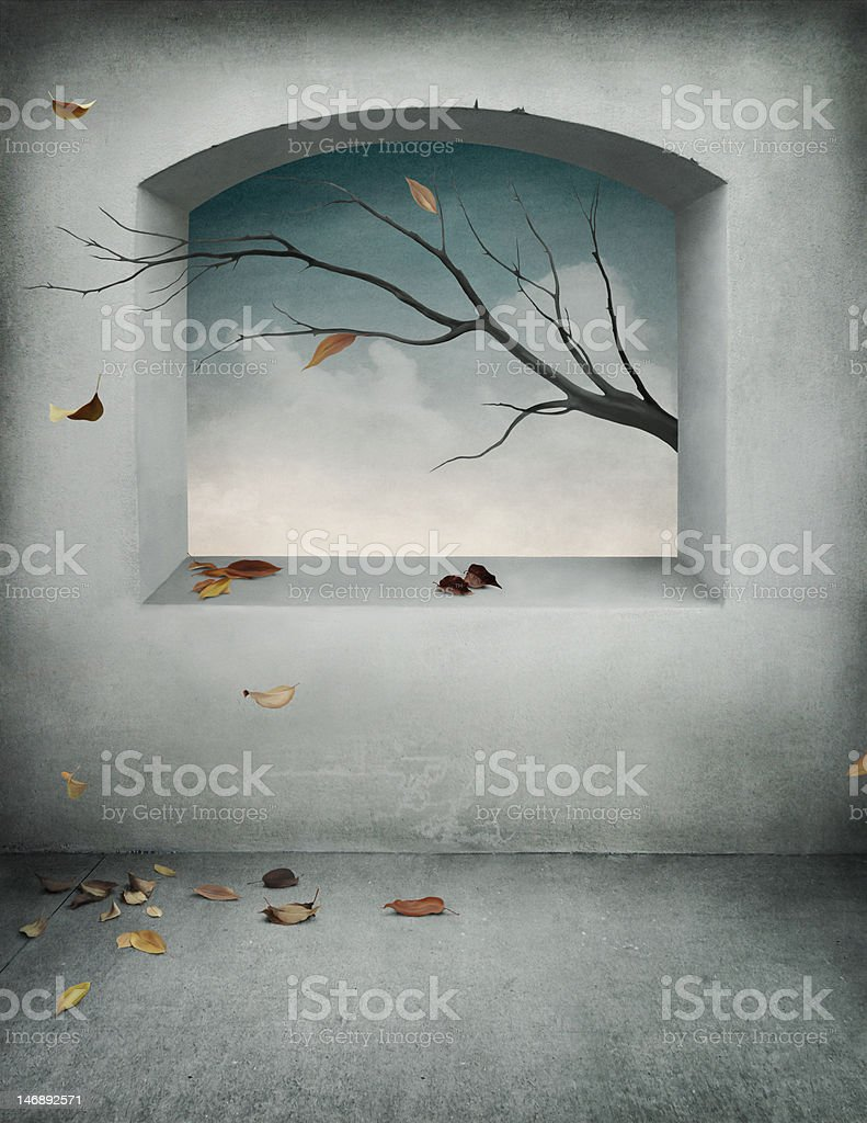 Autumn backdrop for postcards or posters royalty-free stock vector art