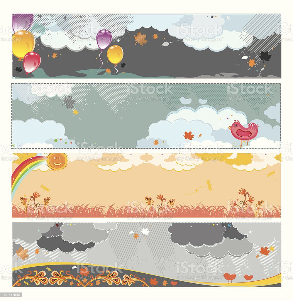 Autumn banners 3 royalty-free stock vector art