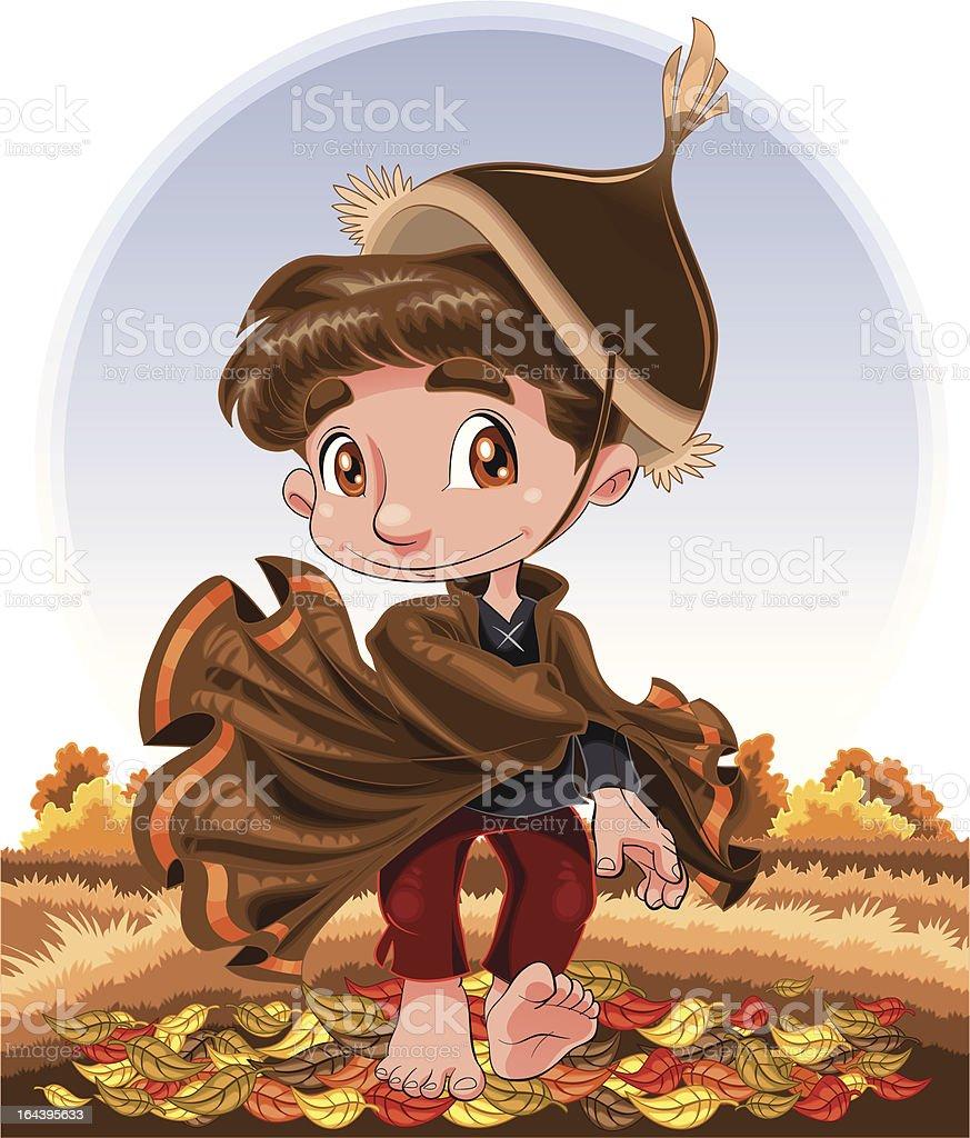 Autumn boy royalty-free stock vector art