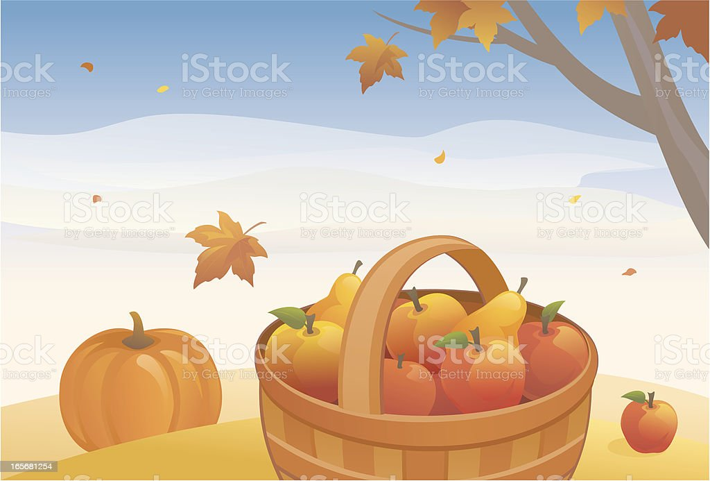 Autumn crop royalty-free stock vector art