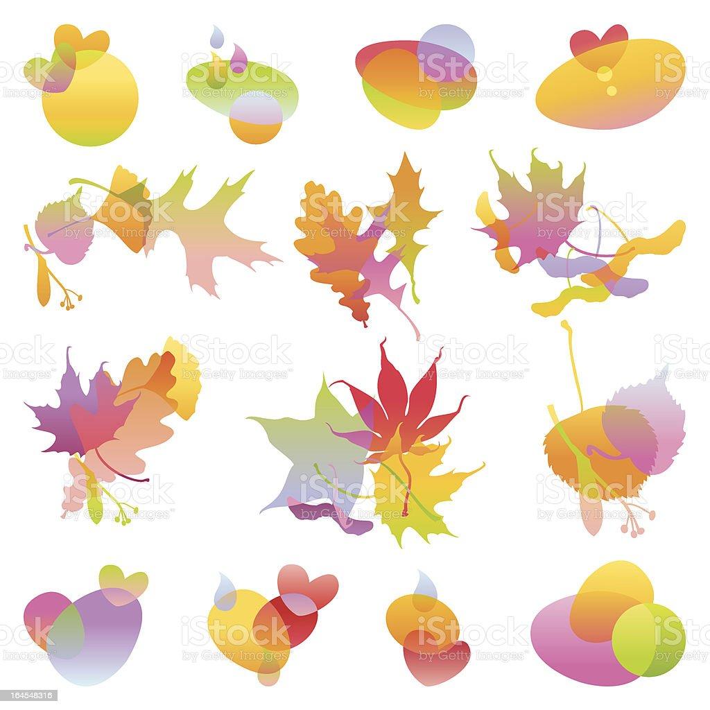 Autumn Design Elements royalty-free stock vector art