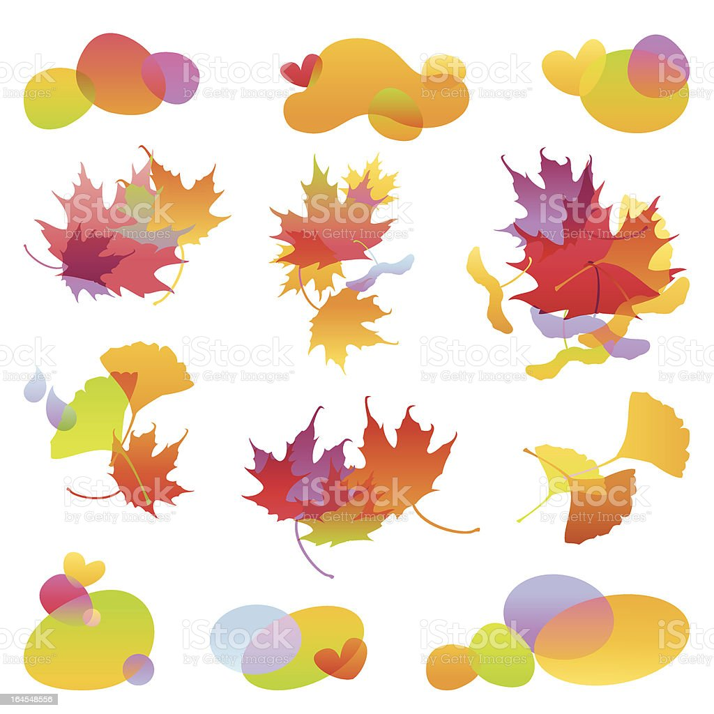 Autumn Design Elements royalty-free stock vector art