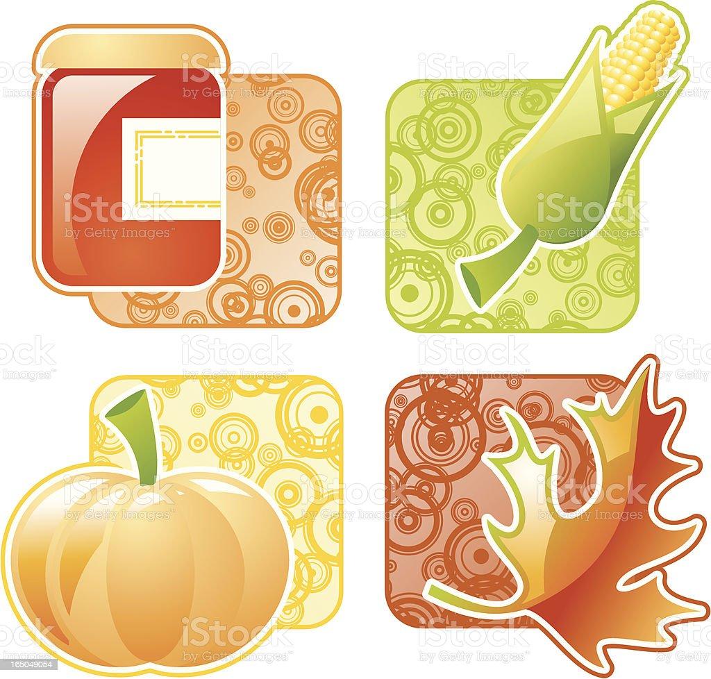 Autumn elements vector art illustration