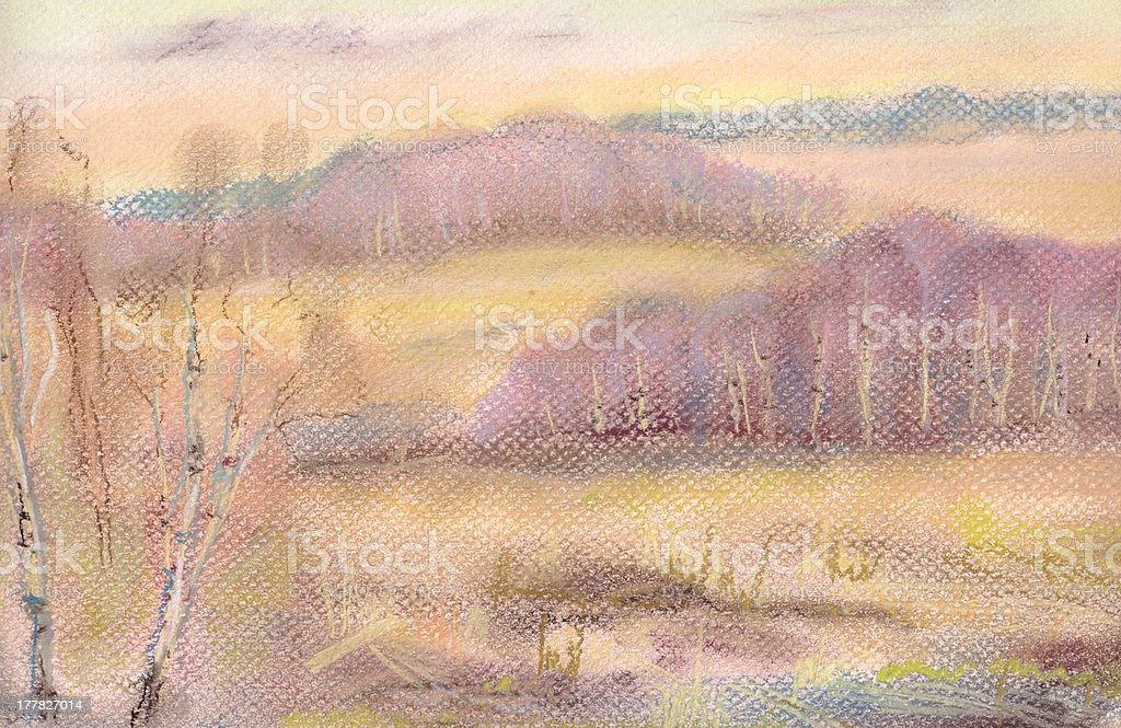 Autumn evening royalty-free stock vector art