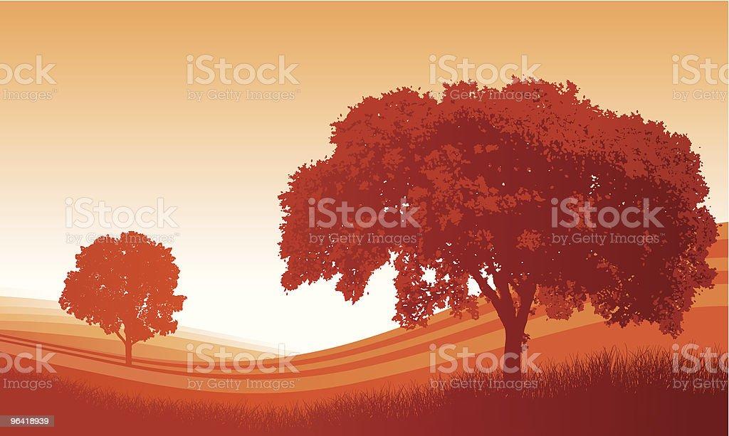 Autumn Field vector art illustration