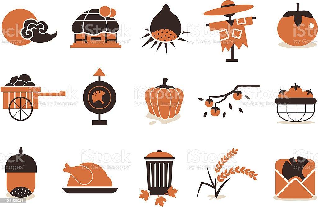 autumn icon 01 royalty-free stock vector art