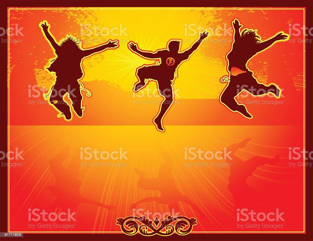 Autumn Jumpers! vector art illustration