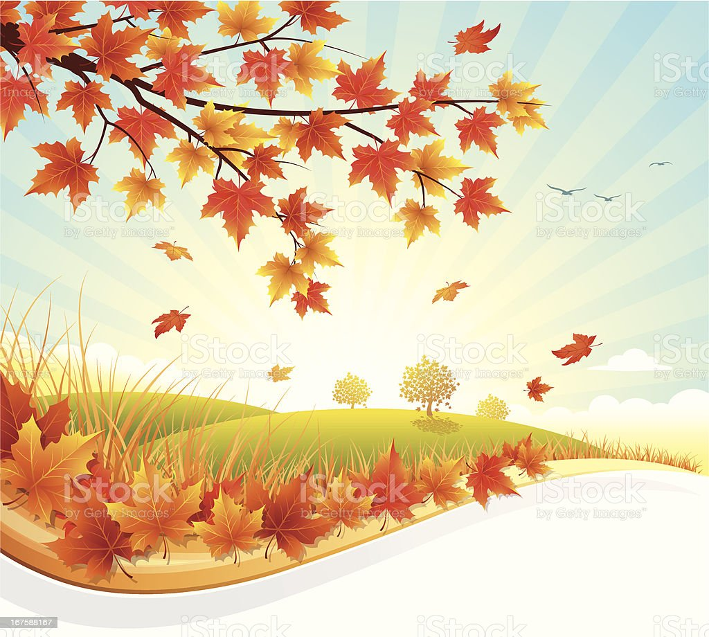 Autumn Landscape royalty-free stock vector art