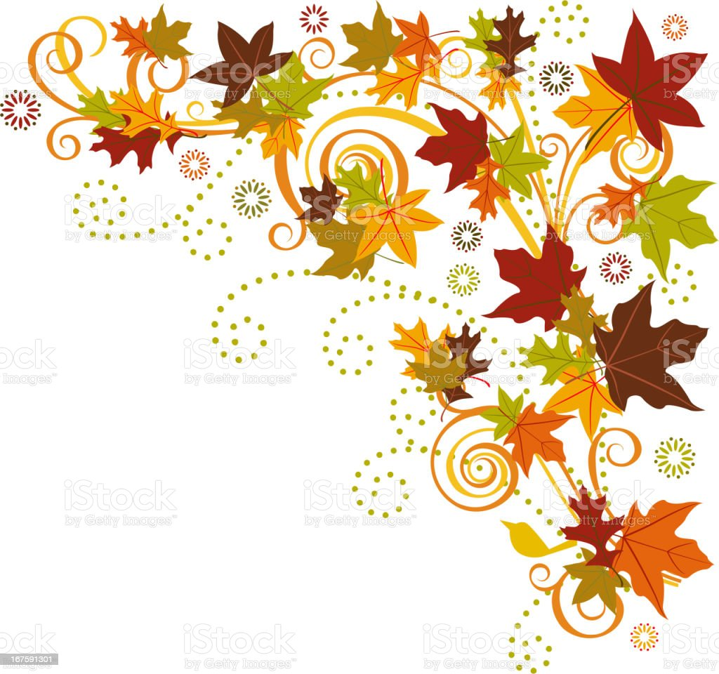 Autumn Leave Ornament royalty-free stock vector art