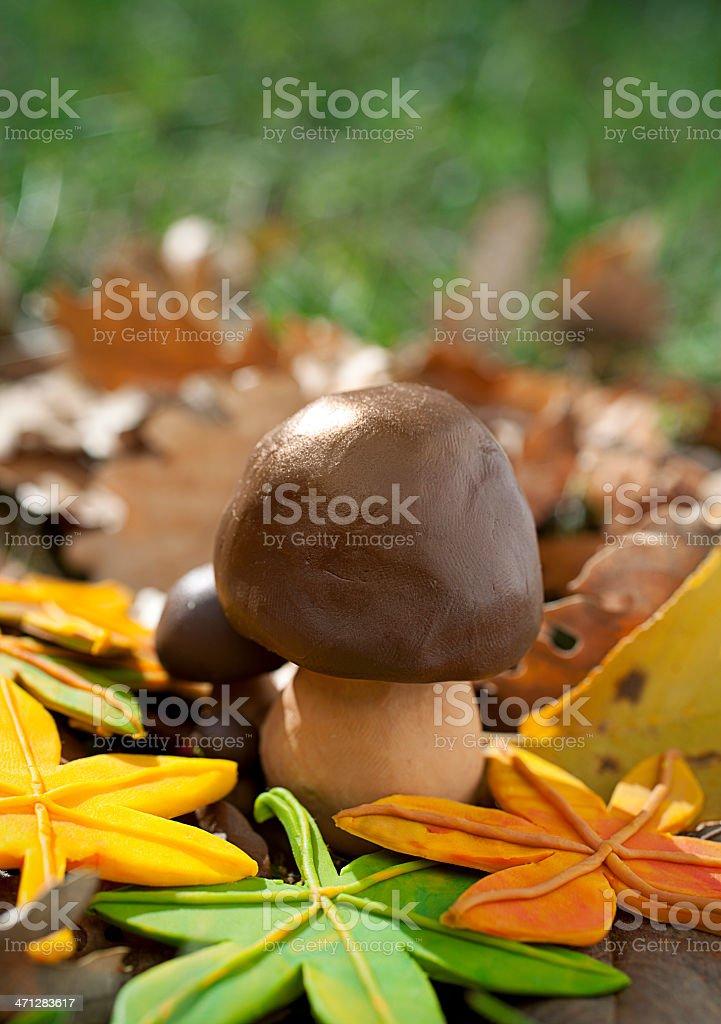 Autumn Mushroom royalty-free stock vector art