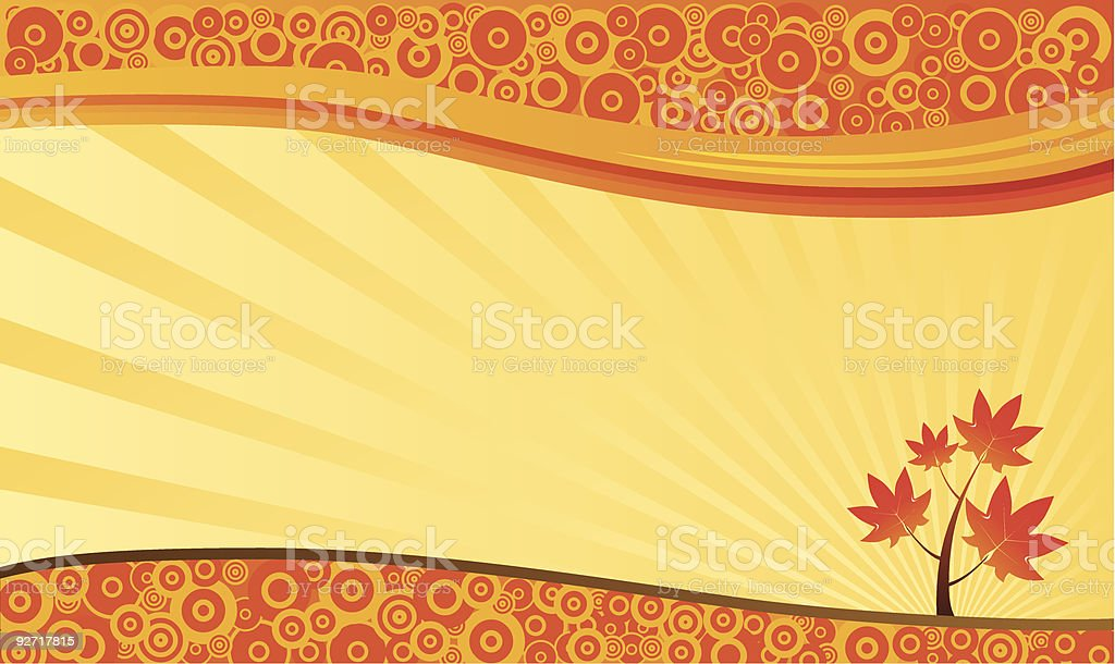 Autumn Nature Background royalty-free stock vector art
