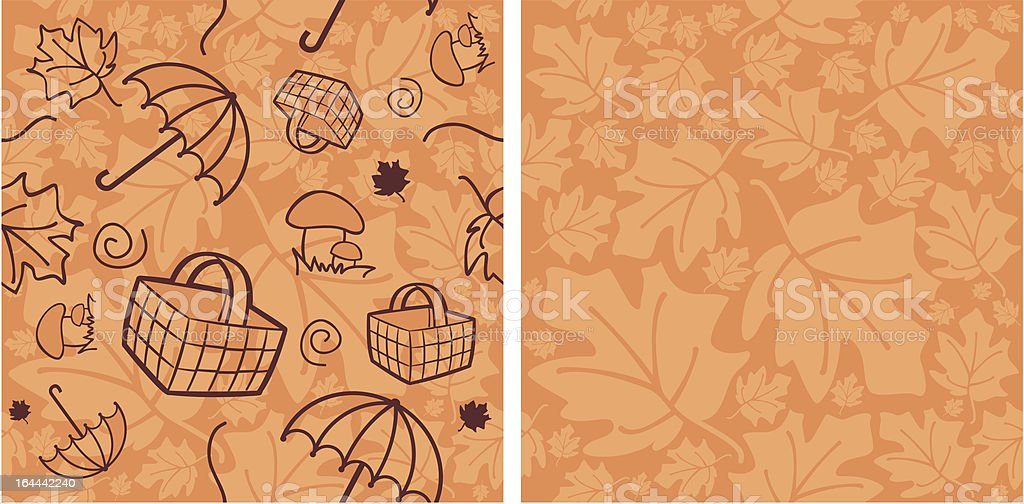 autumn pattern royalty-free stock vector art