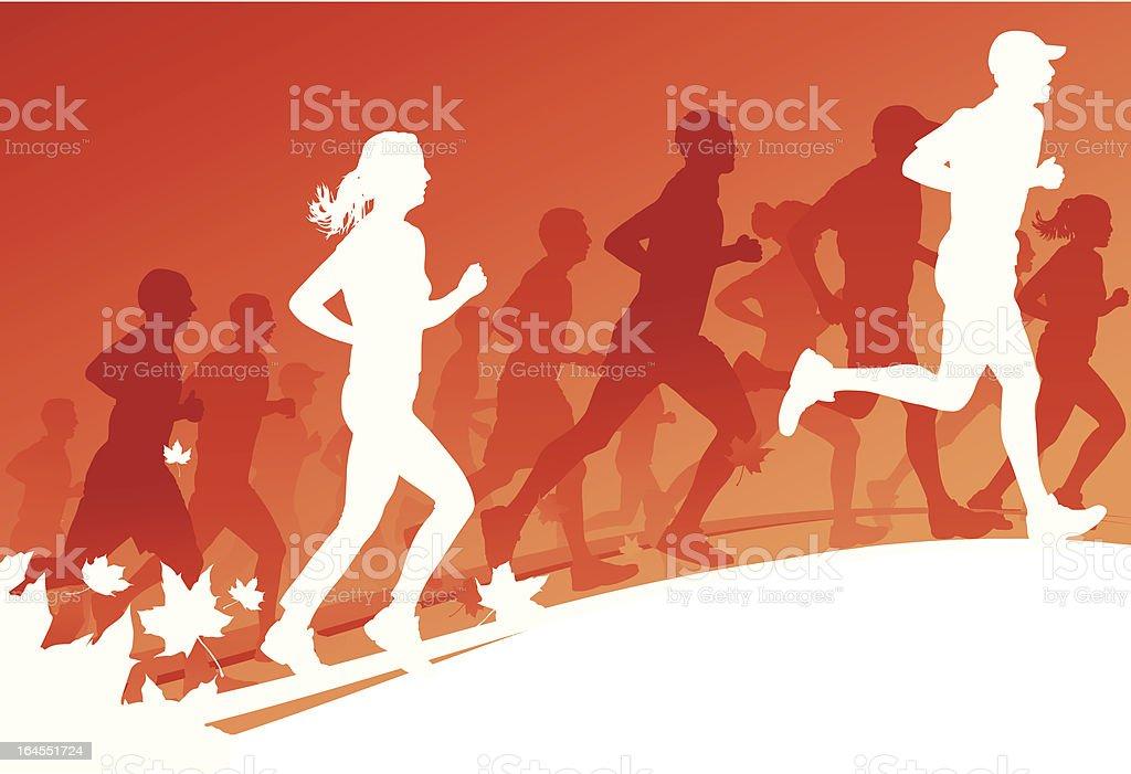 Autumn Run royalty-free stock vector art