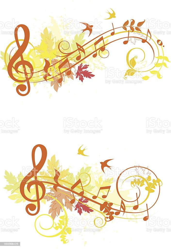 Autumn set of design elements royalty-free stock vector art