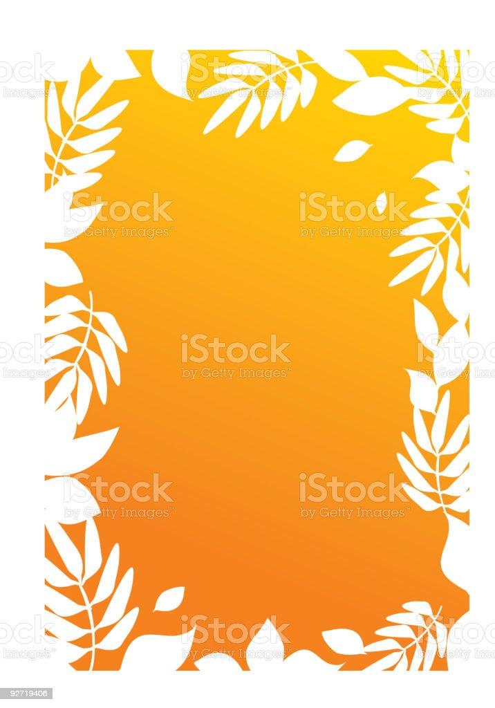 Autumn silhouette royalty-free stock vector art