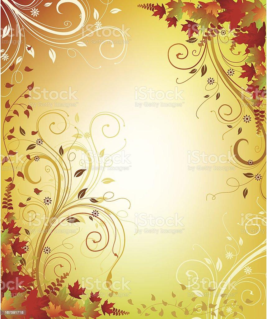 Autumn Swirls Background royalty-free stock vector art