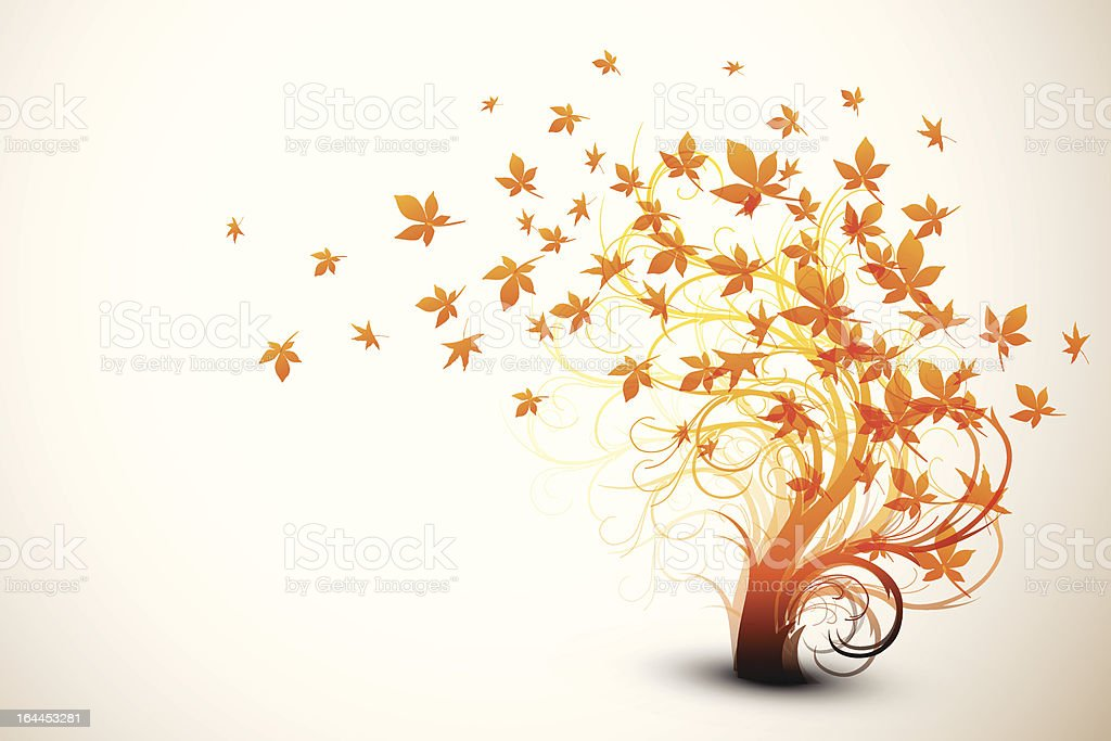 Autumn Tree | Clean Vector Composition royalty-free stock vector art