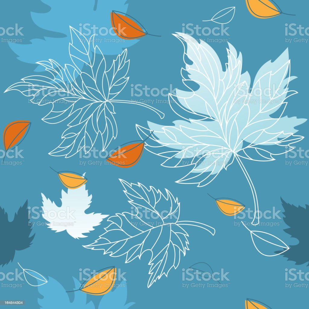 Autumn Turning to Winter Foliage vector art illustration