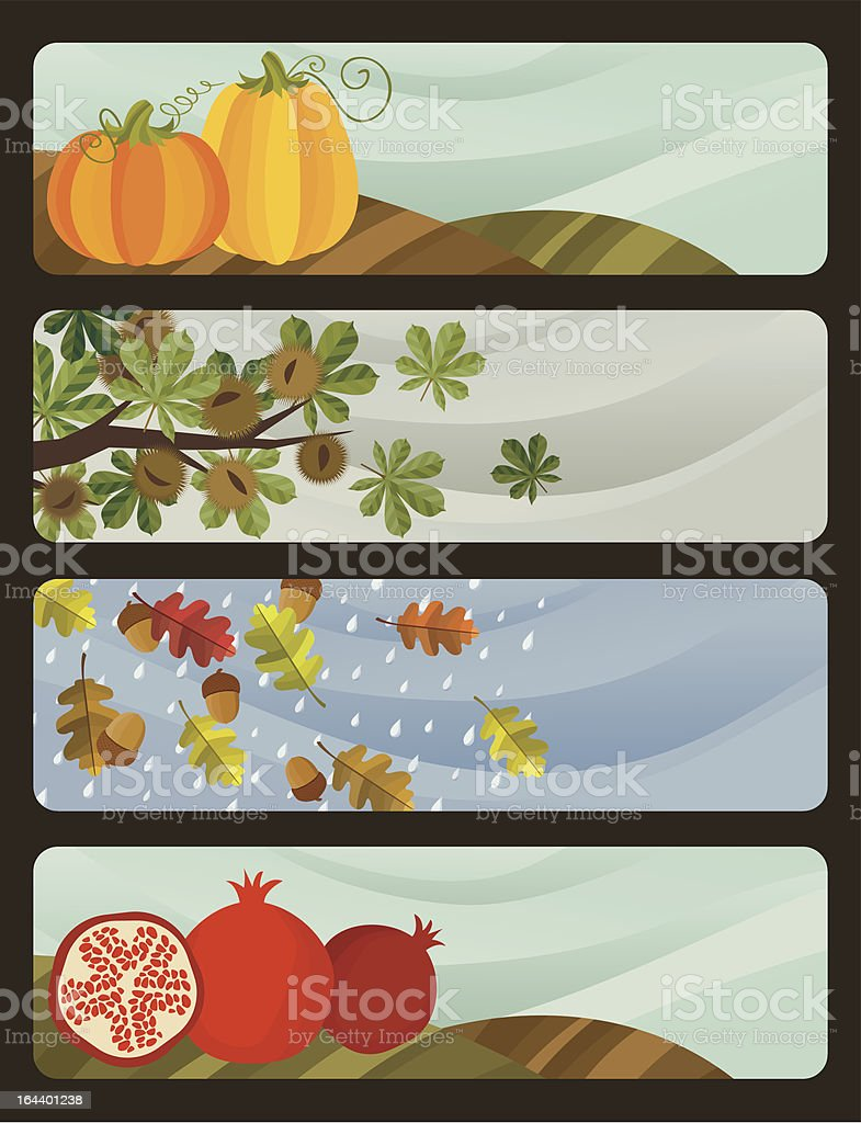 Autumns banners royalty-free stock vector art