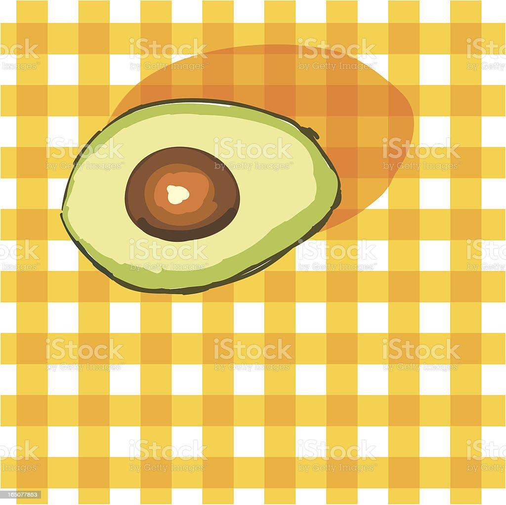 Avocado royalty-free stock vector art
