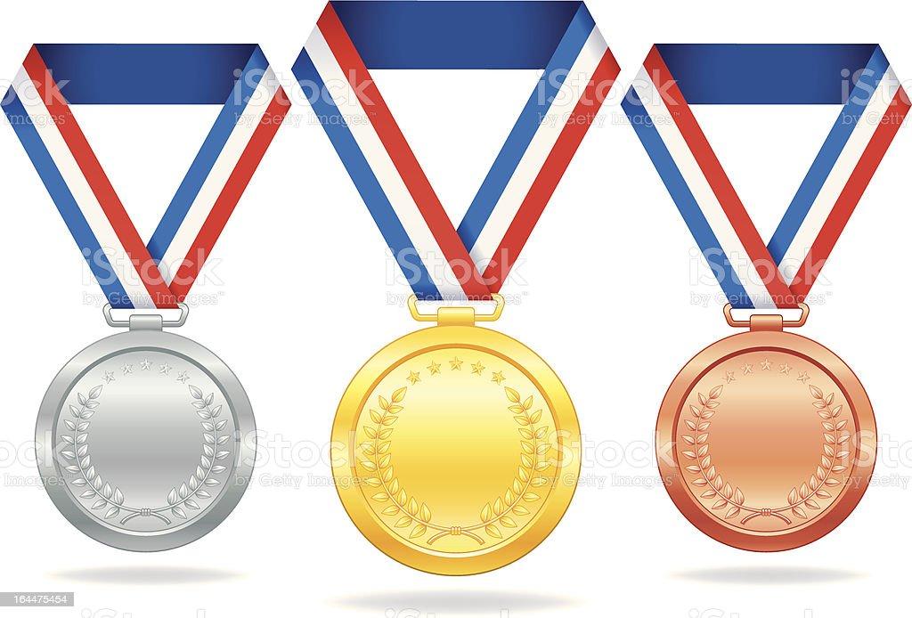 award medal vector art illustration