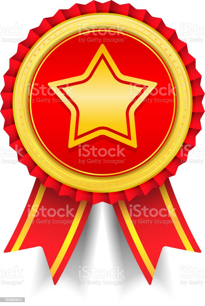 Award with Star royalty-free stock vector art
