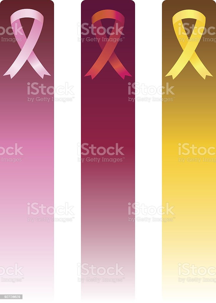 Awareness Ribbon Banners royalty-free stock vector art