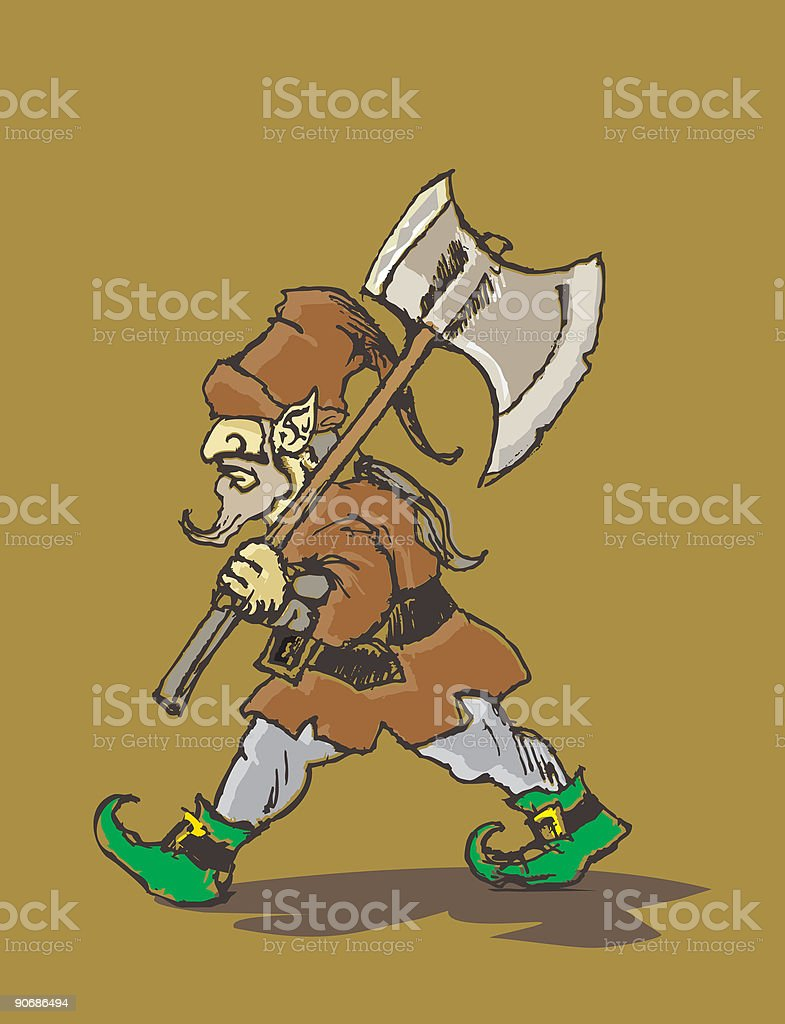 axe gnome royalty-free stock vector art