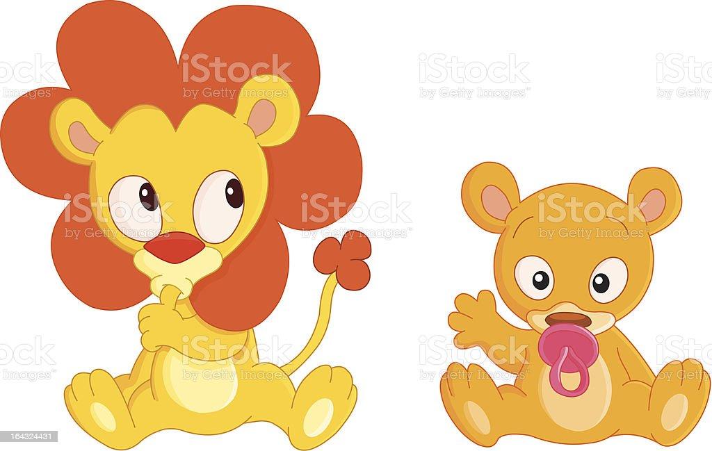 Baby animals royalty-free stock vector art
