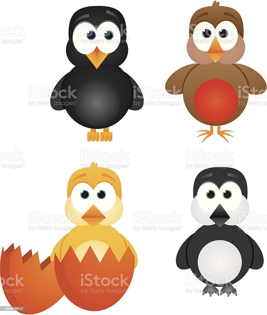 Baby Birds royalty-free stock vector art