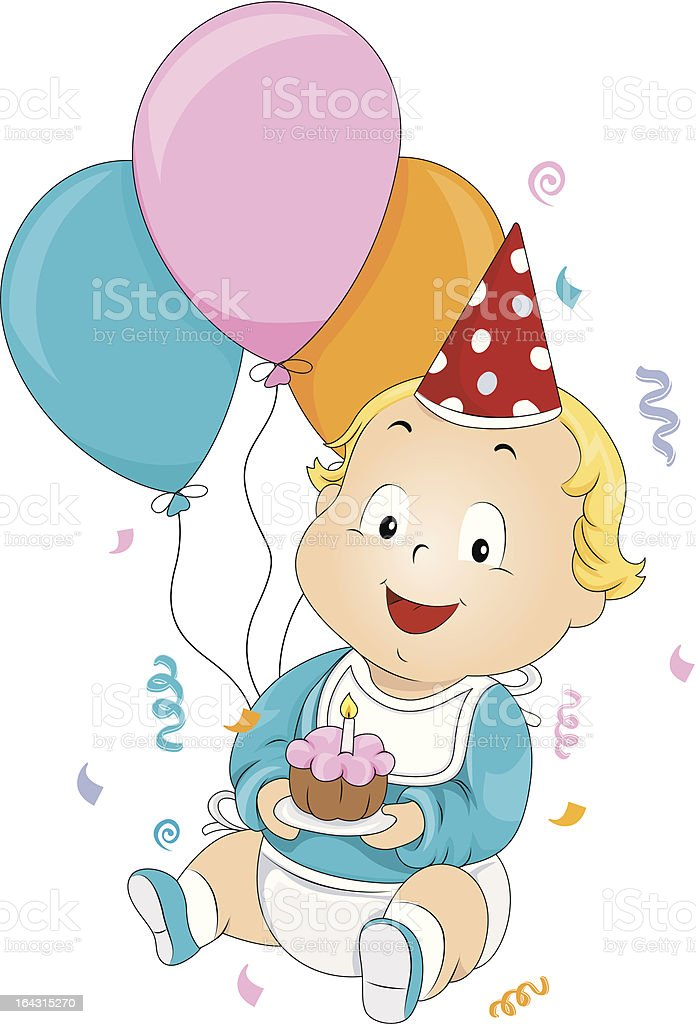 Baby Birthday royalty-free stock vector art
