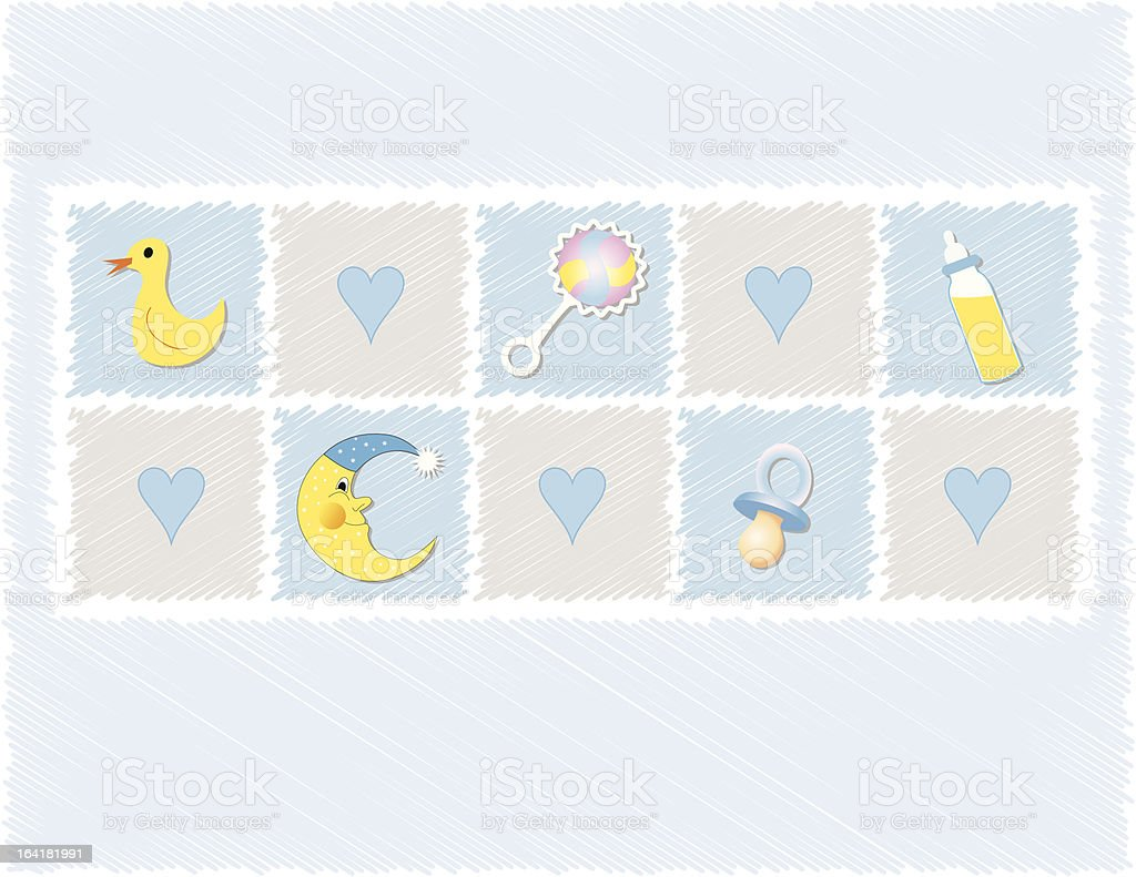 Baby boy Toys royalty-free stock vector art
