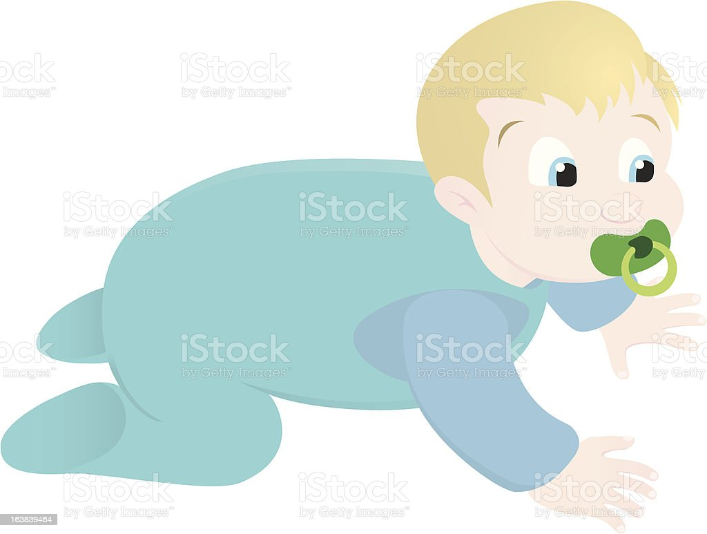 baby crawling royalty-free stock vector art