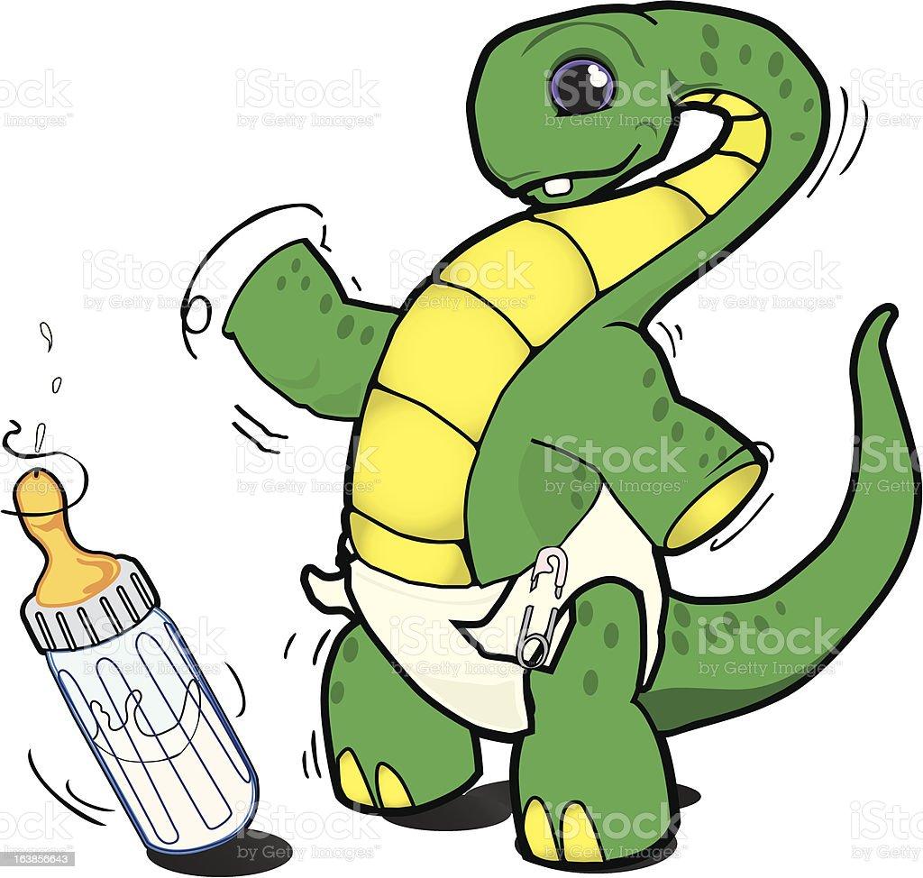 Baby Dinosaur vector art illustration