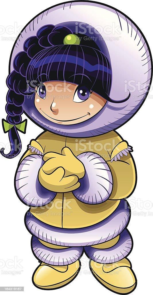 Baby Eskimo royalty-free stock vector art