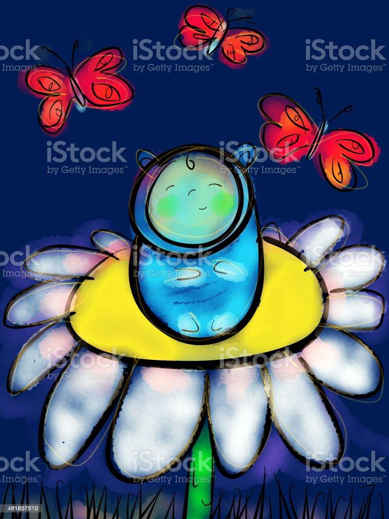 Baby Flower royalty-free stock vector art